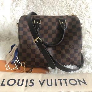 Louis Vuitton Speedy 25 Bandouliere Ebene
